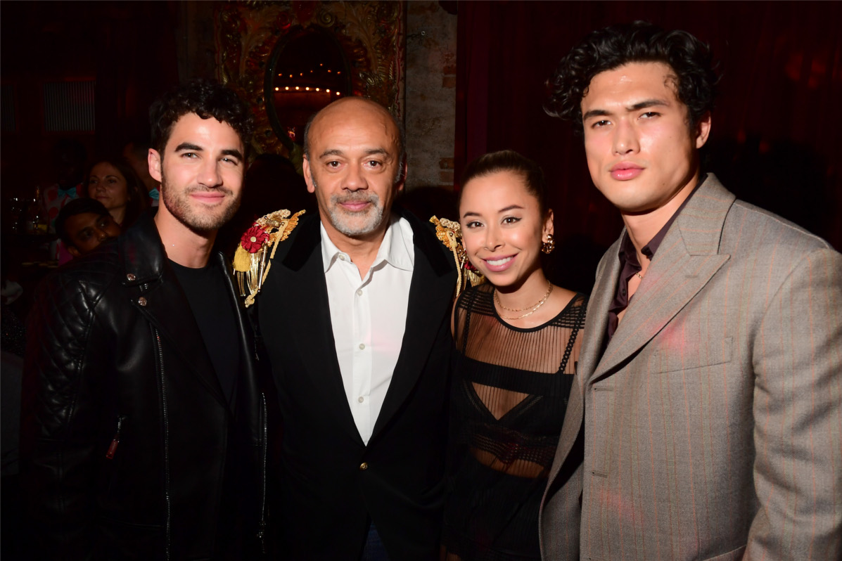 Christian Louboutin, Charles Melton, Darren Criss et Ashley Weston
