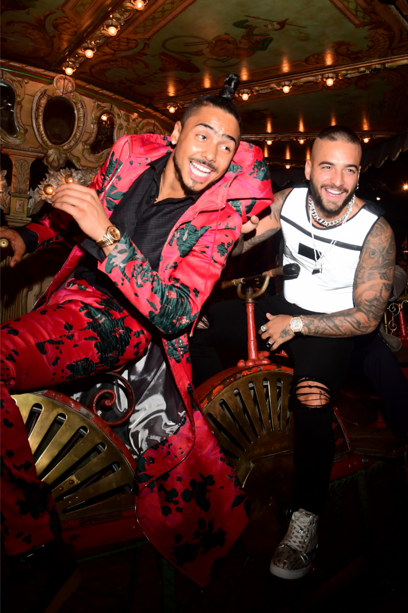 Quincy Brown et Maluma